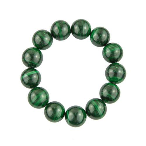 Malachite Bracelet - 14 mm Bead