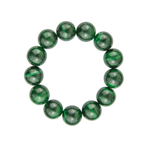 Malachite Bracelet - 14 mm Bead