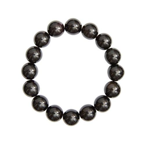 Black Obsidian Bracelet - 12 mm Bead