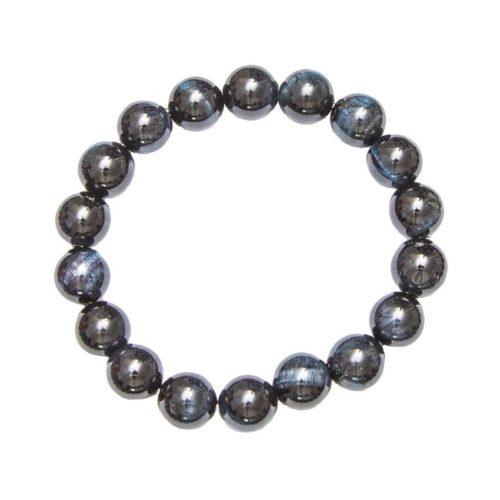 bracelet oeil de faucon pierres boules 10mm