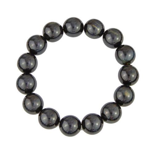 bracelet oeil de faucon pierres boules 12mm