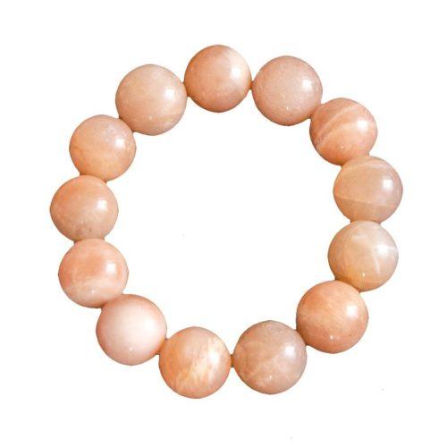 bracelet pierre de soleil pierres boules 14mm