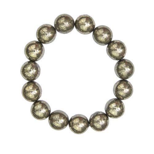 Iron Pyrite Bracelet - 12 mm Bead