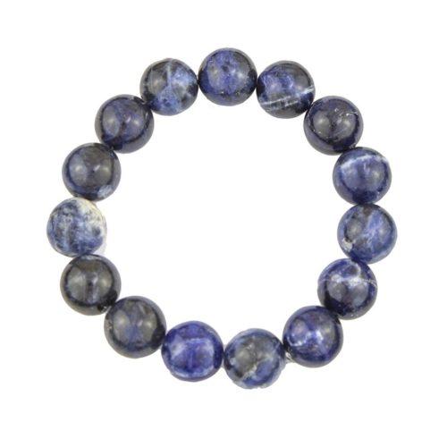 bracelet sodalite pierres boules 12mm