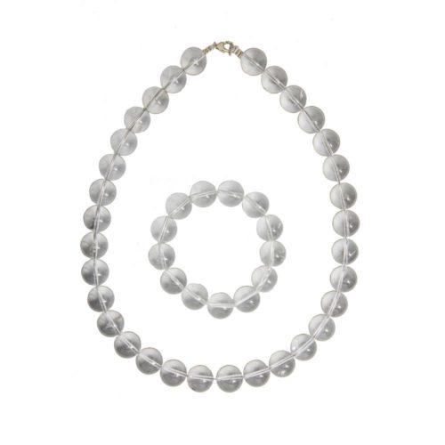 Rock Crystal Gift Set - 14 mm Bead
