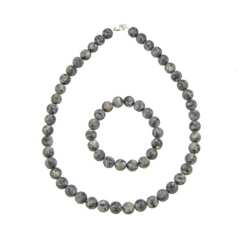 Larvikite Gift Set - 10 mm Bead