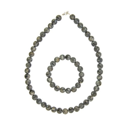 Larvikite Gift Set - 10 mm Bead