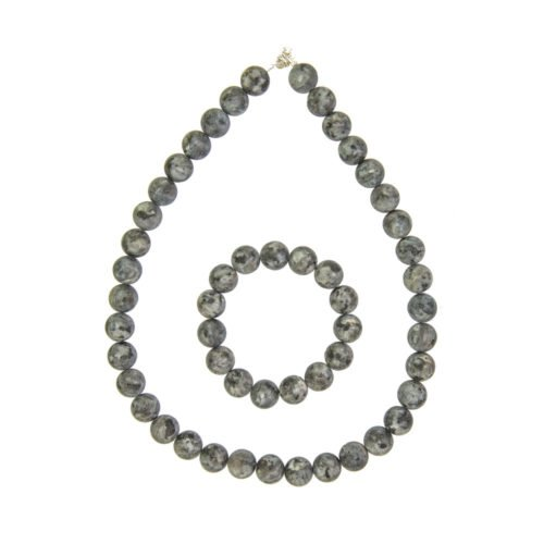 Larvikite Gift Set - 12 mm Bead