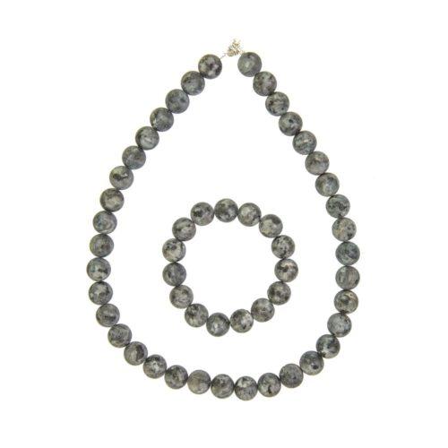 Larvikite Gift Set - 12 mm Bead