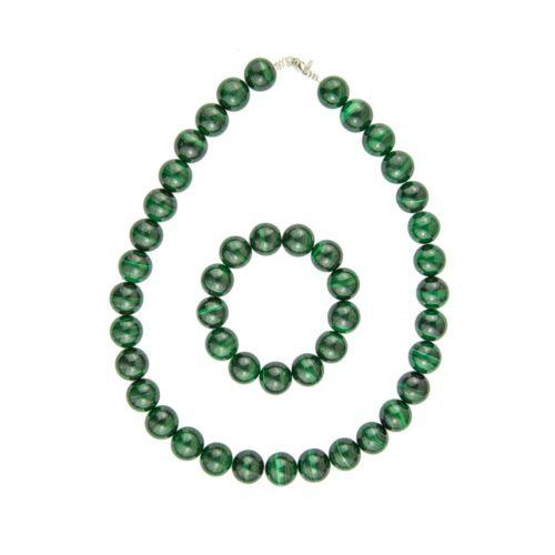 Malachite Gift Set - 14 mm Bead