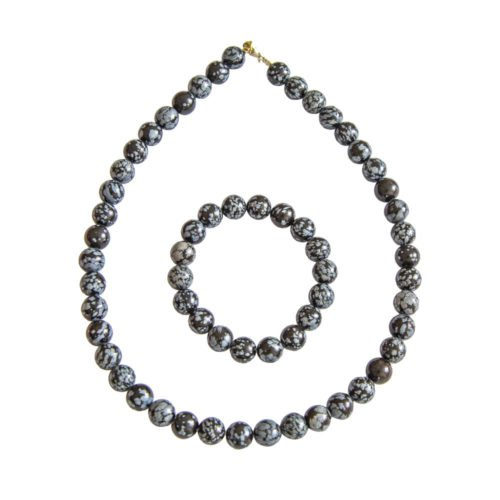 Snowflake Obsidian Gift Set - 10 mm Bead