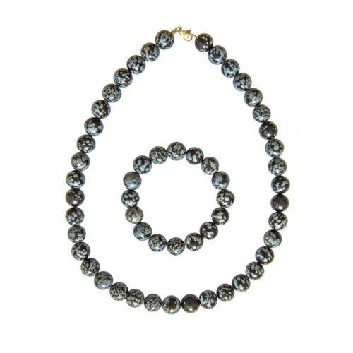 Snowflake Obsidian Gift Set - 12 mm Bead