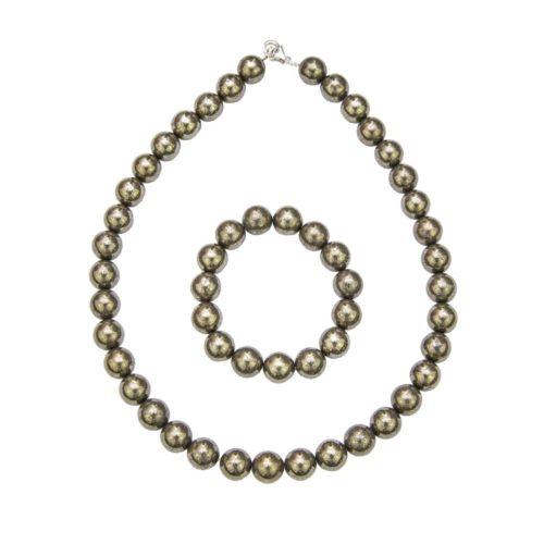 Iron Pyrite Gift Set - 12 mm Bead