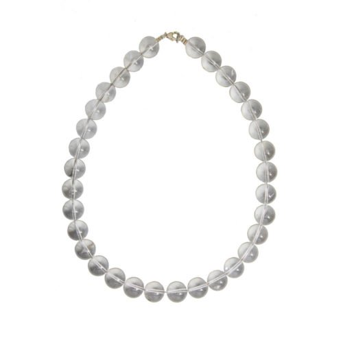 Rock Crystal Necklace - 14 mm Bead