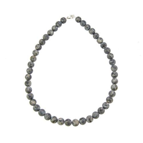 Larvikite Necklace - 10 mm Bead