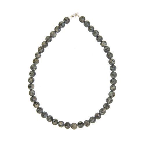Larvikite Necklace - 10 mm Bead