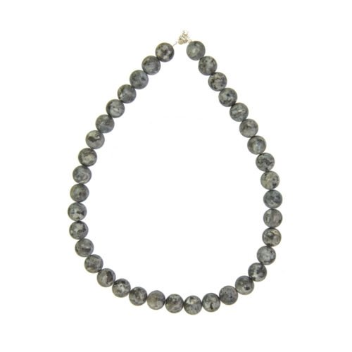 Larvikite Necklace - 12 mm Bead
