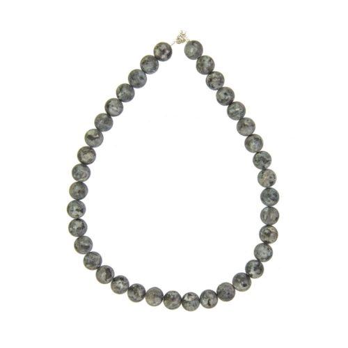 Larvikite Necklace - 12 mm Bead
