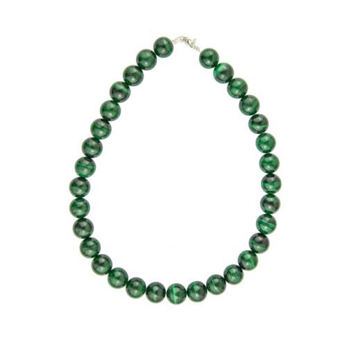 Malachite Necklace - 14 mm Bead