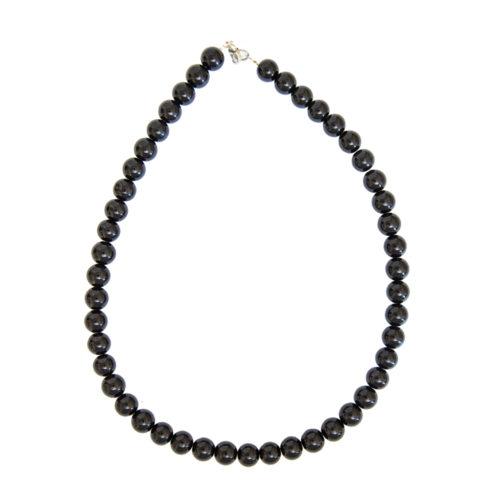 Black Obsidian Necklace - 10 mm Bead
