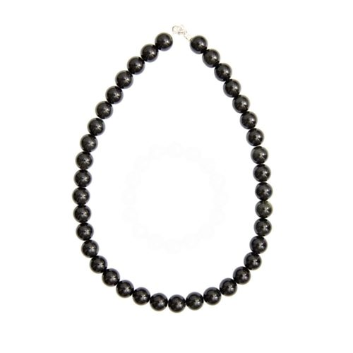 Black Obsidian Necklace - 12 mm Bead