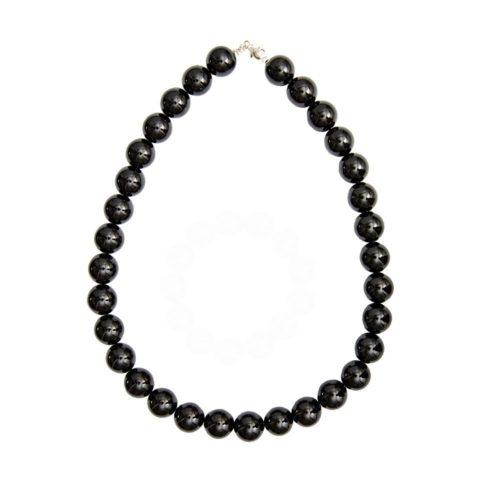 Black Obsidian Necklace - 14 mm Bead