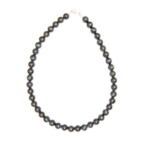Falcon's Eye Necklace - 10 mm Bead