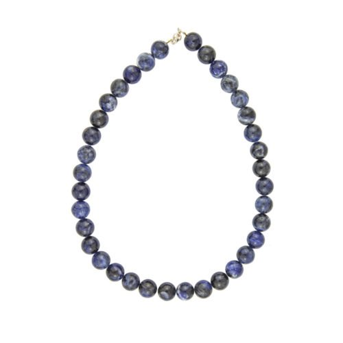Sodalite Necklace - 12 mm Bead