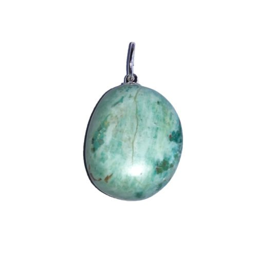 Chrysocolla Pendant - Tumbled Stone