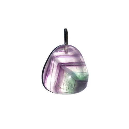 Multicoloured Fluorite Pendant - Tumbled Stone