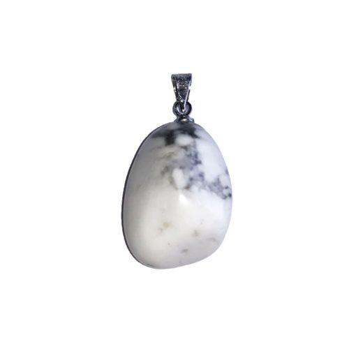 Howlite Pendant - Tumbled Stone