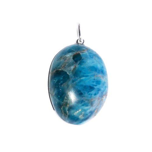 Blue Apatite Pendant - Tumbled Stone