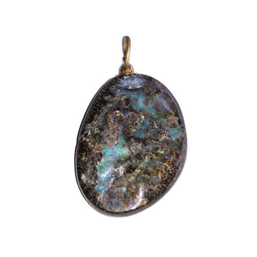Australian Opal Pendant - Tumbled Stone