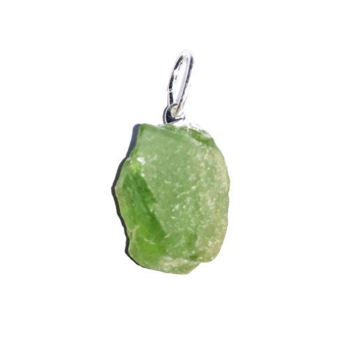 Peridot Pendant - Raw Stone