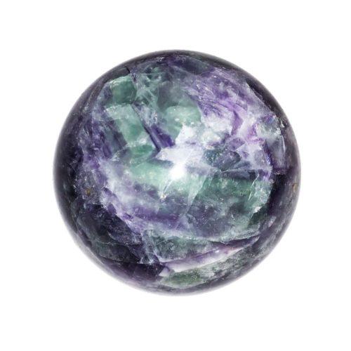 Multicoloured Fluorite Bead - 60 mm