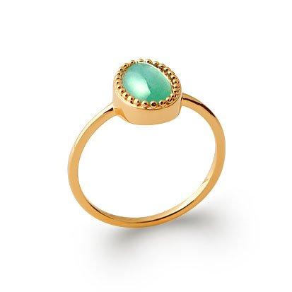 Aventurine 'Alexandra' Ring - Gold Plated 750