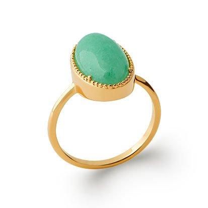 Aventurine 'Judith' Ring - Gold Plated 750