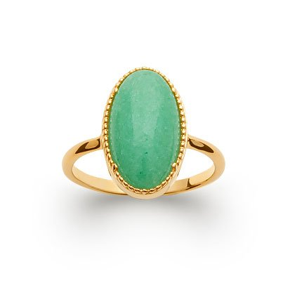 Aventurine 'Judith' Ring - Gold Plated 750