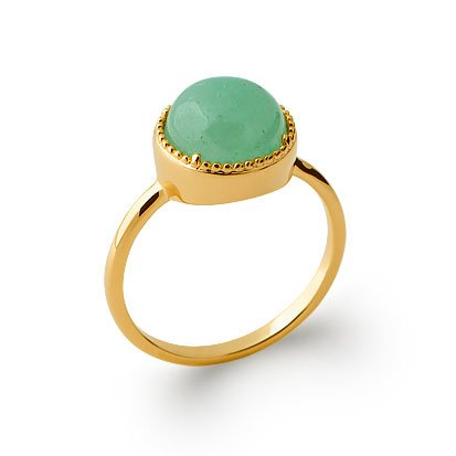 Aventurine 'Constantine' Ring - Gold Plated 750