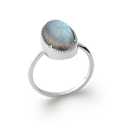 Labradorite 'Judith' Ring - Silver 925