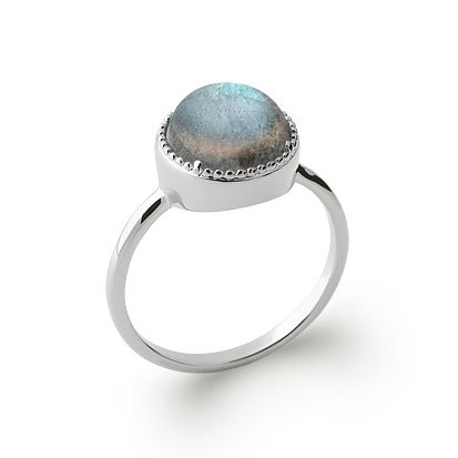 Labradorite 'Constantine' Ring - Silver 925