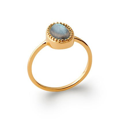 Labradorite 'Alexandra' Ring - Gold Plated 750