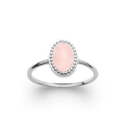 rose quartz 'alexandra' ring - silver 925