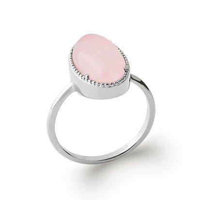 Rose Quartz 'Judith' Ring - Silver 925