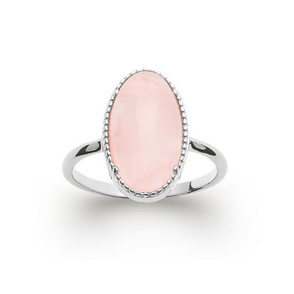 Rose Quartz 'Judith' Ring - Silver 925