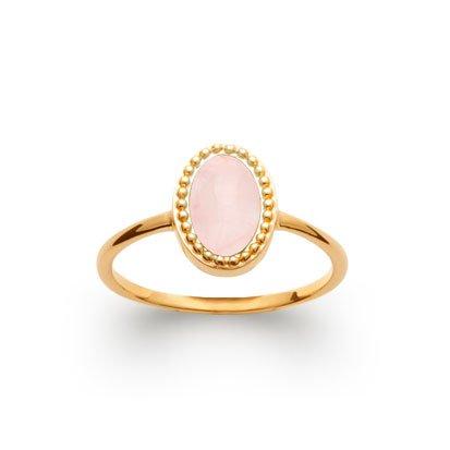 Rose Quartz 'Alexandra' Ring - Gold Plated 750
