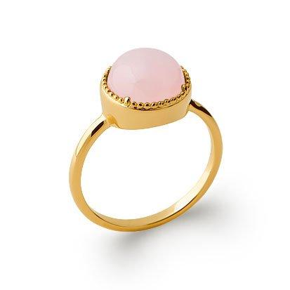 Rose Quartz 'Constantine' Ring - Gold Plated 750