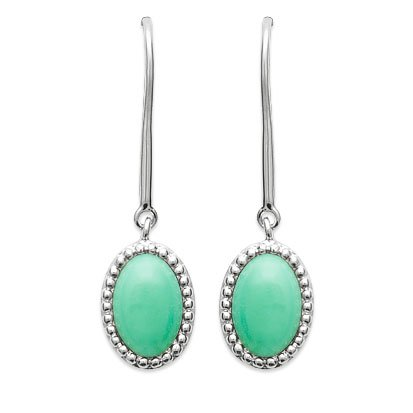 Aventurine 'Alexandra' Earrings - Silver 925