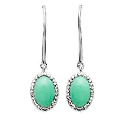Aventurine 'Alexandra' Earrings - Silver 925