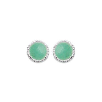 Aventurine 'Constantine' Earrings - Silver 925